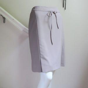 Ann Taylor Purple Grey Pencil Skirt w/ Pleats